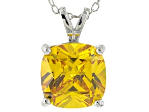 Bella Luce® 6.65ct Yellow Diamond Simulant Silver Pendant With Chain