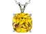 Bella Luce® 6.65ct Yellow Diamond Simulant Silver Pendant With Chain