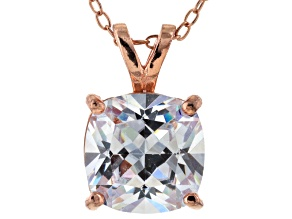 Bella Luce® 5.15ct Diamond Simulant 18k Gold Over Silver Pendant With Chain
