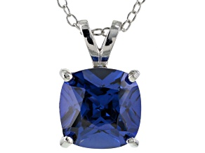 Bella Luce® 5.04ct Tanzanite Simulant Rhodium Over Silver Pendant With Chain