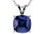 Bella Luce® 5.04ct Tanzanite Simulant Rhodium Over Silver Pendant With Chain