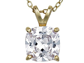 Bella Luce® 3.47ct Diamond Simulant 18k Gold Over Silver Pendant With Chain