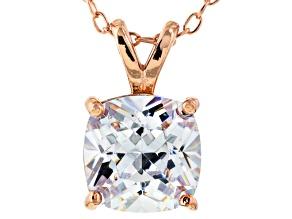 Bella Luce® 3.47ct Diamond Simulant 18k Gold Over Silver Pendant With Chain