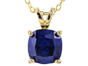 Bella Luce® 3.15ct Tanzanite Simulant 18k Gold Over Silver Pendant With Chain