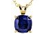 Bella Luce® 3.15ct Tanzanite Simulant 18k Gold Over Silver Pendant With Chain