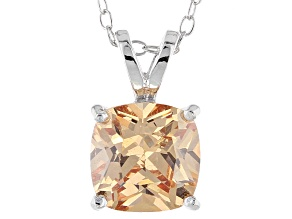 Bella Luce® 3.50ct Champagne Diamond Simulant Silver Pendant With Chain