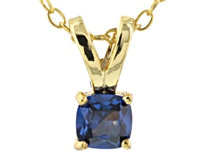 Bella Luce® .47ct Tanzanite Simulant 18k Gold Over Silver Pendant With Chain