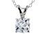 Bella Luce® 1.40ct Diamond Simulant Rhodium Over Silver Pendant With Chain