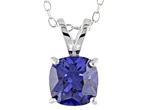 Bella Luce® 2.25ct Tanzanite Simulant Rhodium Over Silver Pendant With Chain