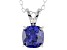 Bella Luce® 2.25ct Tanzanite Simulant Rhodium Over Silver Pendant With Chain