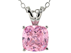 Bella Luce® 2.66ct Diamond Simulant Rhodium Over Silver Pendant With Chain