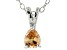 Bella Luce® .53ct Diamond Simulant Rhodium Over Silver Pendant With Chain