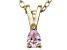 Bella Luce® .28ct Diamond Simulant 18k Gold Over Silver Pendant With Chain