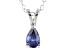 Bella Luce® .51ct Tanzanite Simulant Rhodium Over Silver Pendant With Chain