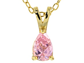 Bella Luce® .63ct Diamond Simulant 18k Gold Over Silver Pendant With Chain