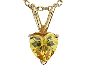 Bella Luce® 1.37ct Diamond Simulant 18k Gold Over Silver Pendant With Chain