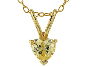 Bella Luce® .78ct Diamond Simulant 18k Gold Over Silver Pendant With Chain