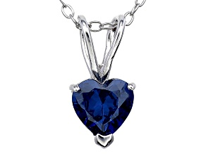Bella Luce® 1.28ct Tanzanite Simulant Rhodium Over Silver Pendant With Chain