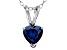 Bella Luce® 1.28ct Tanzanite Simulant Rhodium Over Silver Pendant With Chain