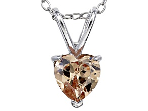 Bella Luce® 1.40ct Diamond Simulant Rhodium Over Silver Pendant With Chain