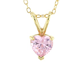Bella Luce® 1.35ct Diamond Simulant 18k Gold Over Silver Pendant With Chain
