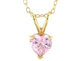 Bella Luce® 1.35ct Diamond Simulant 18k Gold Over Silver Pendant With Chain