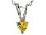 Bella Luce® .43ct Diamond Simulant Rhodium Over Silver Pendant With Chain