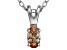 Bella Luce® .33ct Champagne Diamond Simulant Silver Pendant With Chain