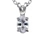 Bella Luce® .70ct Diamond Simulant Rhodium Over Silver Pendant With Chain
