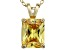 Bella Luce® 3.77ct Yellow Diamond Simulant 18k Over Silver Pendant With Chain