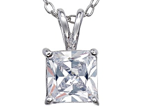 Bella Luce® 1.73ct Diamond Simulant Rhodium Over Silver Pendant With Chain