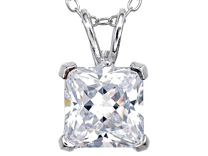 Bella Luce® 2.60ct Diamond Simulant Rhodium Over Silver Pendant With Chain