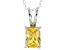 Bella Luce® 2.40ct Yellow Diamond Simulant Silver Pendant With Chain