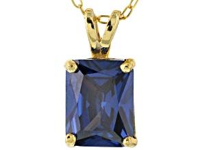 Bella Luce® 3.53ct Tanzanite Simulant 18k Gold Over Silver Pendant With Chain