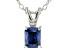 Bella Luce® .65ct Tanzanite Simulant Rhodium Over Silver Pendant With Chain