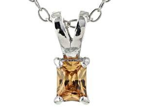 Bella Luce® .30ct Champagne Diamond Simulant Silver Pendant With Chain