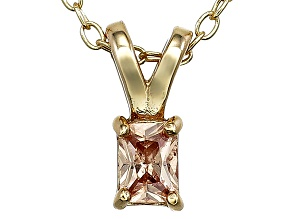 Bella Luce® .30ct Diamond Simulant 18k Over Silver Pendant With Chain