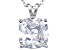 Bella Luce® 6.45ct Diamond Simulant Rhodium Over Silver Pendant With Chain