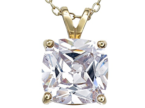 Bella Luce® 6.45ct Diamond Simulant 18k Gold Over Silver Pendant With Chain