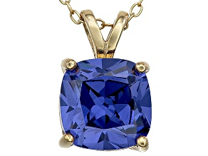 Bella Luce® 5.04ct Tanzanite Simulant 18k Gold Over Silver Pendant With Chain
