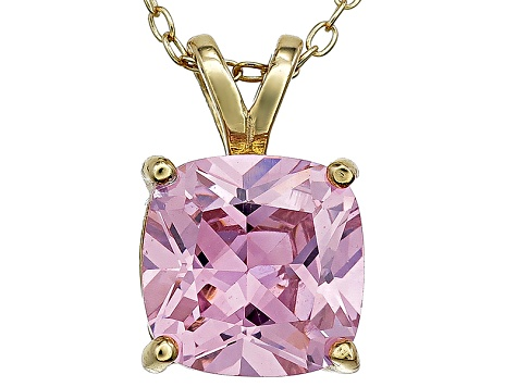Bella Luce® 5.36ct Diamond Simulant 18k Gold Over Silverpendant With Chain