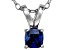 Bella Luce® .47ct Tanzanite Simulant Rhodium Over Silver Pendant With Chain
