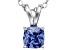Bella Luce® .86ct Tanzanite Simulant Rhodium Over Silver Pendant With Chain