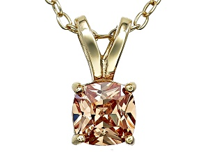 Bella Luce® .99ct Diamond Simulant 18k Over Silver Pendant With Chain