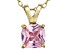 Bella Luce® 1.56ct Pink Diamond Simulant 18k Over Silver Pendant With Chain