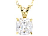 Bella Luce® 2.40ct Diamond Simulant 18k Gold Over Silver Pendant With Chain