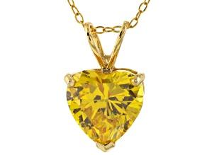 Bella Luce® 6.18ct Diamond Simulant 18k Gold Over Silver Pendant With Chain