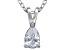 Bella Luce® .61ct Pear Diamond Simulant Rhodium Over Silver Pendant With Chain