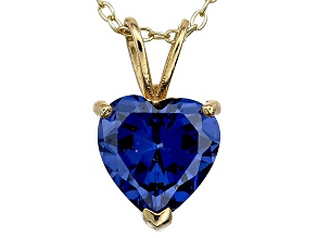 Bella Luce® 4.00ct Tanzanite Simulant 18k Gold Over Silver Pendant With Chain
