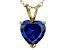 Bella Luce® 4.00ct Tanzanite Simulant 18k Gold Over Silver Pendant With Chain